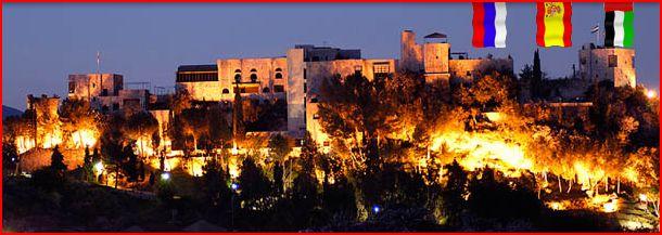 Monda Castle at night