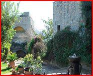 Monda Castle garden area
