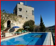 Monda Castle pool area